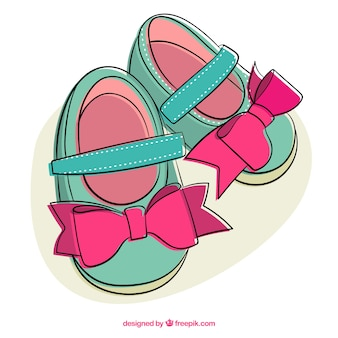 Симпатичные девушки обувь иллюстрация