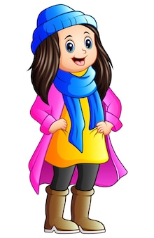 Cute girl wearing winter clothes