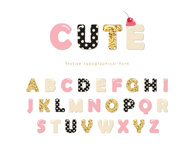 Cute girly font