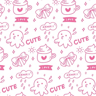 Cute girly seamless pattern