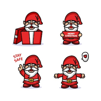 Cute gnome with christmas costume and decoration