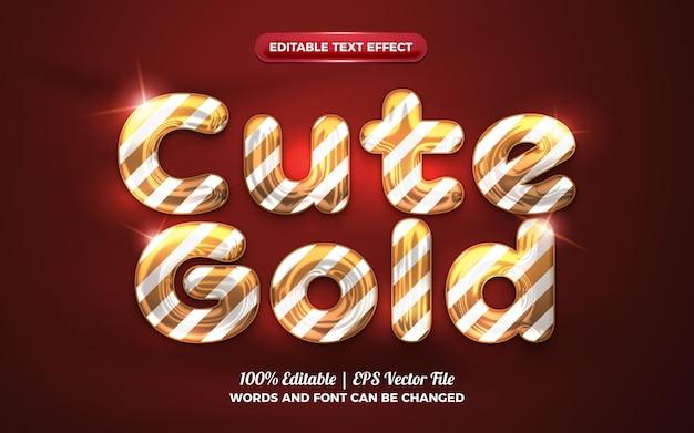 Cute gold baloon 3d liquid editable text effect for happy birthday