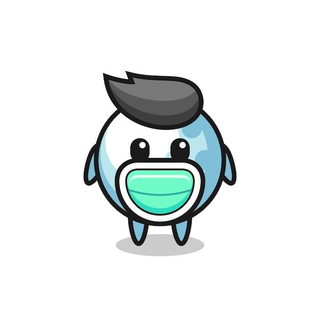 Cute golf cartoon wearing a mask , cute style design for t shirt, sticker, logo element