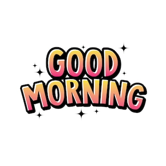 Cute good morning typography