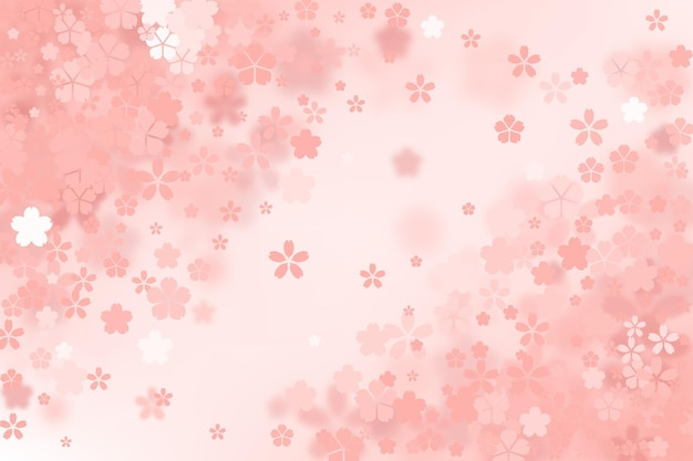 Cute gradient sakura flowers background