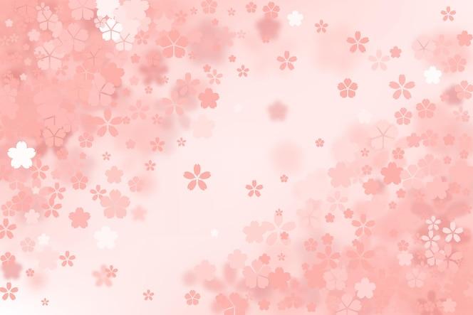 かわいいグラデーションの桜の花の背景