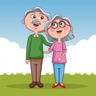 Симпатичные дедушки и бабушки