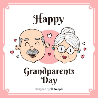 Cute grandparents' day background