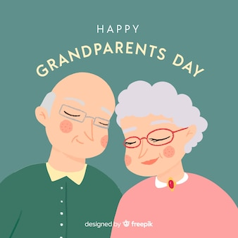 Cute grandparents day background