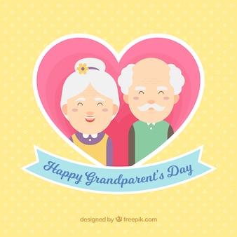 Design dei giorni dei nonni neri con cuore