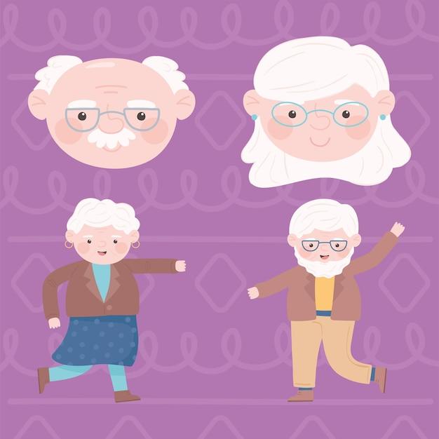 귀여운 조부모 세트