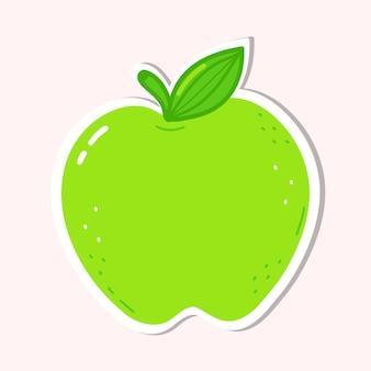 귀여운 녹색 사과