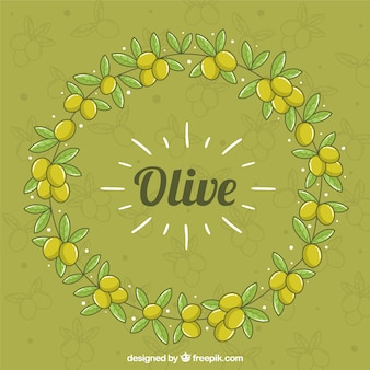 Cute green background with olives