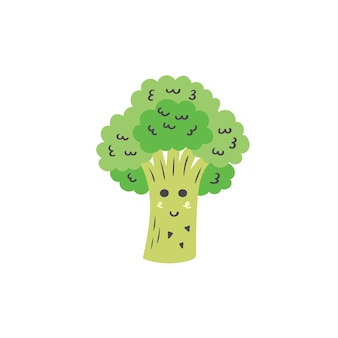 Cute green broccoli