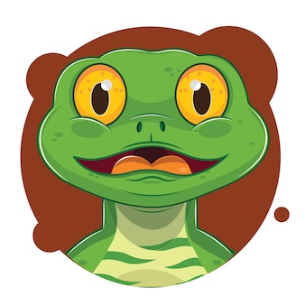 Cute green lizard avatar