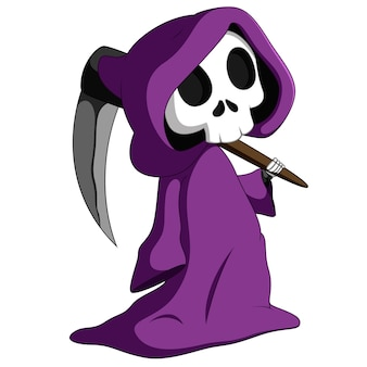 Cute grim reaper
