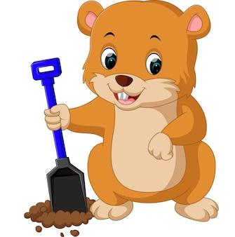 Cute groundhog cartoon