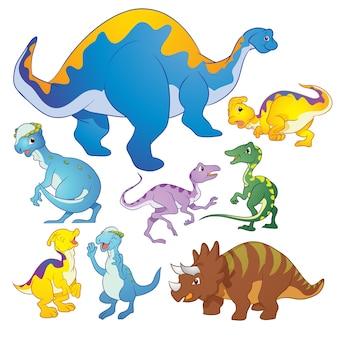 귀여운 그룹 공룡