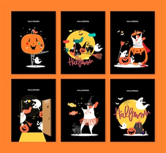 Cute Halloween day concept illustration