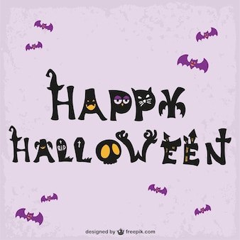 Cute halloween felicitation