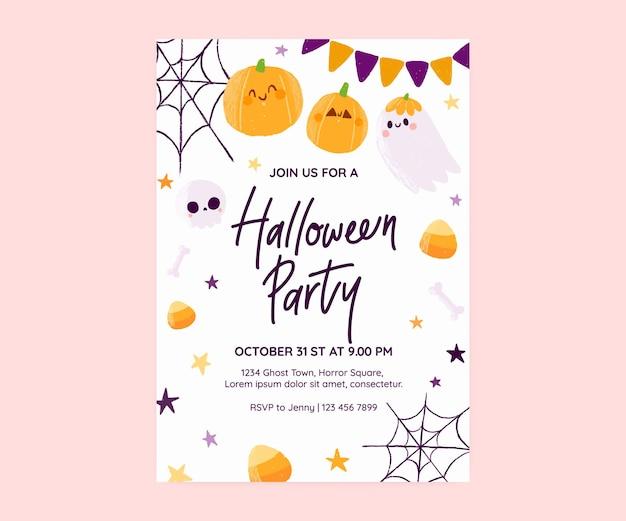 Cute halloween party invitation card