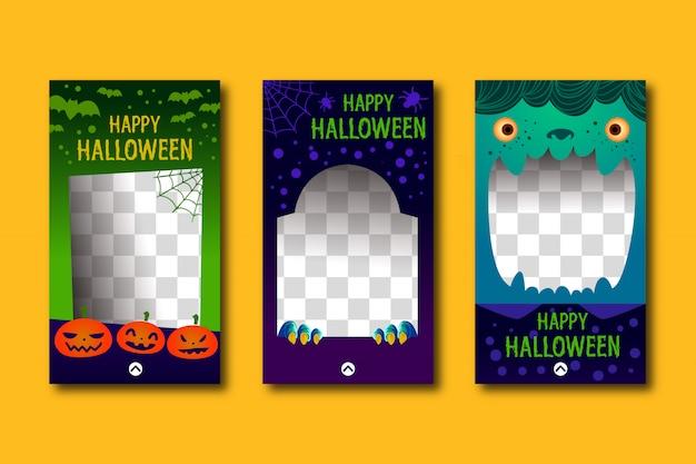 Cute halloween stories template