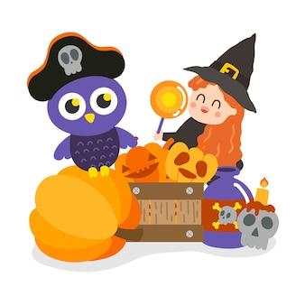 Cute halloween vector.