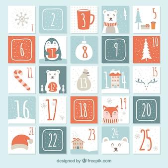 Симпатичный ручной календарь пришествия
