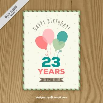 Симпатичные ручной обращается шары открытка на день рождения