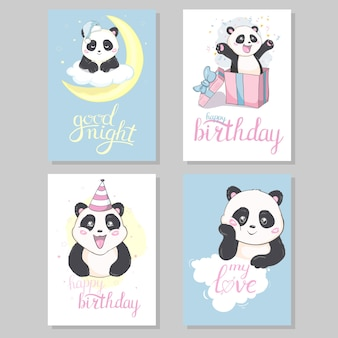 Cute hand drawn cards