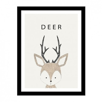 Cute hand drawn deer design