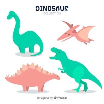 かわいい手描きの恐竜コレクション