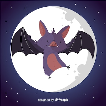 Cute hand drawn halloween bat