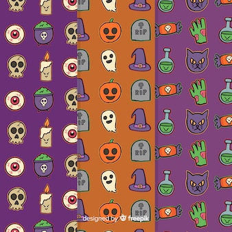 Cute hand drawn halloween pattern