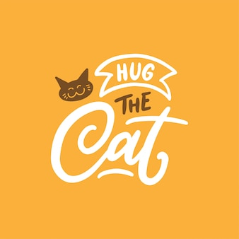 Cute hand drawn lettering for cat lover.