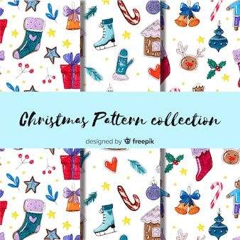 Cute hand drawn patter collection