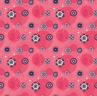 Cute hand drawn pink pattern