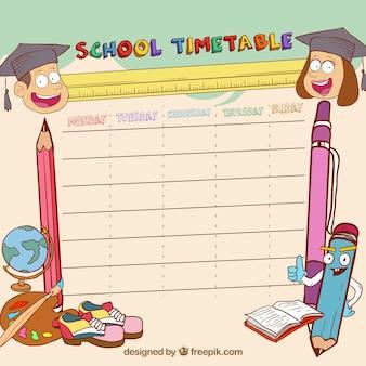 Смазливая расписанное школьное расписание