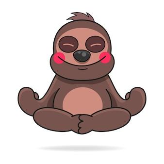 Cute hand drawn sloth