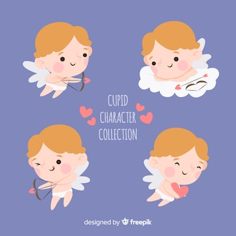 Cute hand drawn valentine's day cupid collection