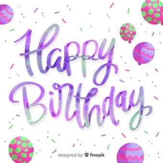 Cute happy birthday lettering