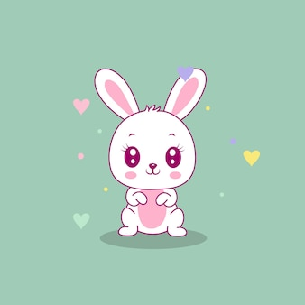 Cute happy bunny   illustration