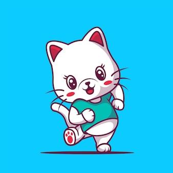 귀여운 행복 고양이 만화 일러스트 레이 션