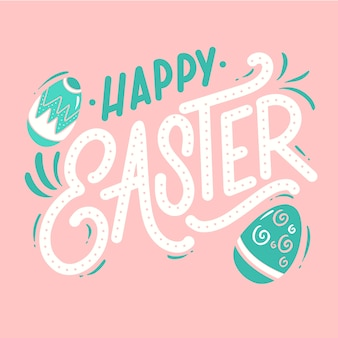 Cute happy easter day background