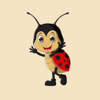 Cute happy ladybug