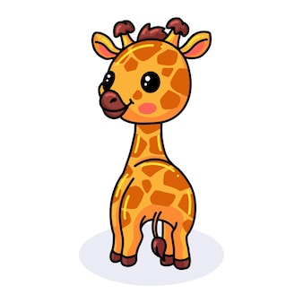 Милый мультфильм счастливый маленький жираф