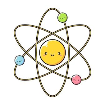 분자 캐릭터의 귀여운 행복