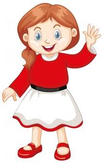 Милый счастливый улыбающийся ребенок, изолированный на белом