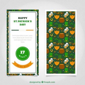 Cute happy st. patrick's day flyer