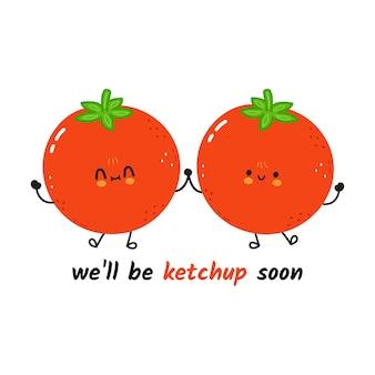 かわいい幸せなトマトカード
